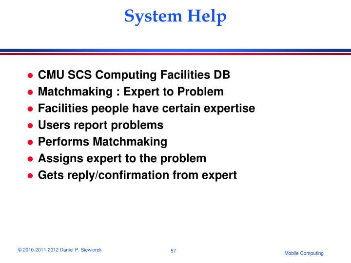 System Help