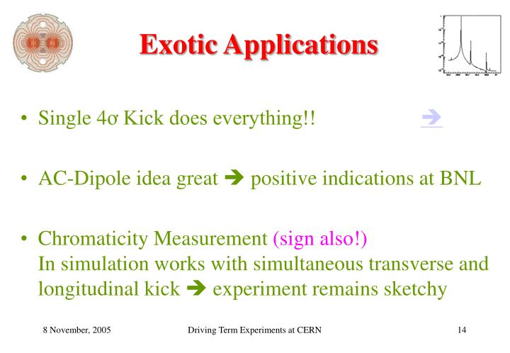Exotic Applications