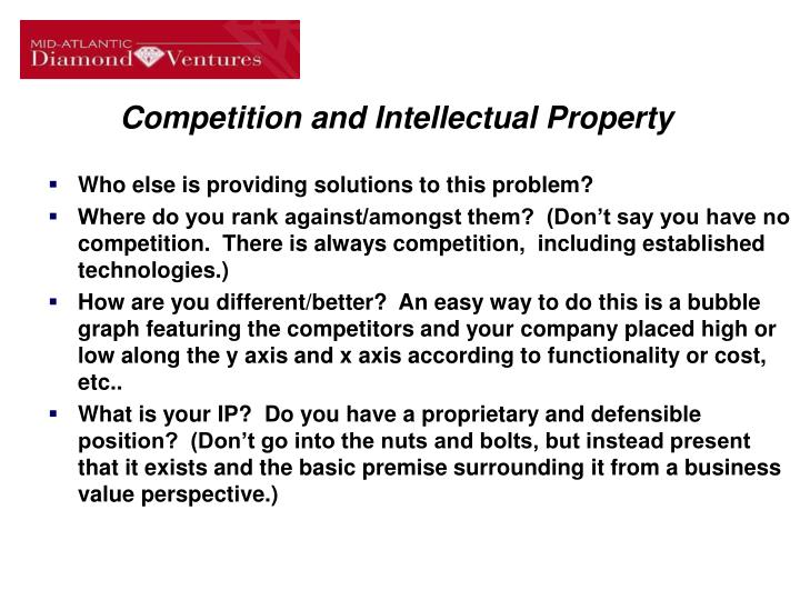 Competition and Intellectual Property