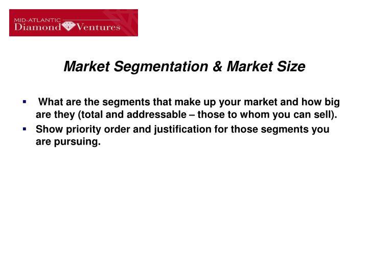 Market Segmentation & Market Size