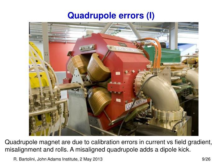 Quadrupole errors (I)