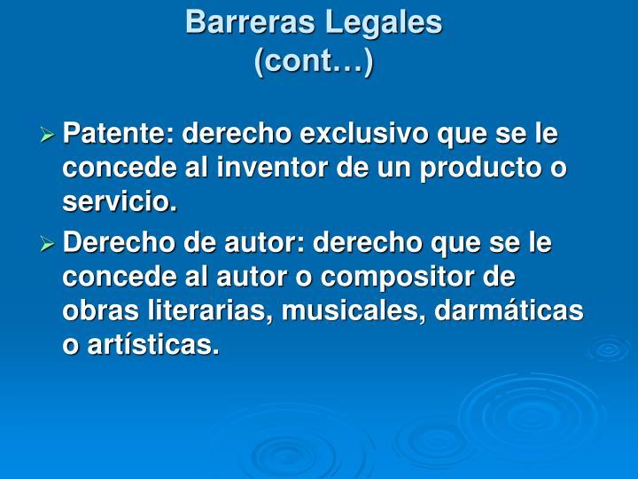 Barreras Legales