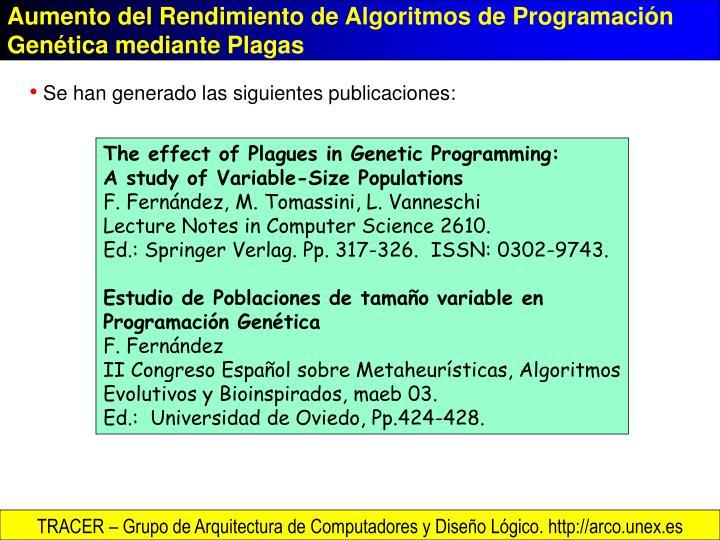 Aumento del Rendimiento de Algoritmos de Programación