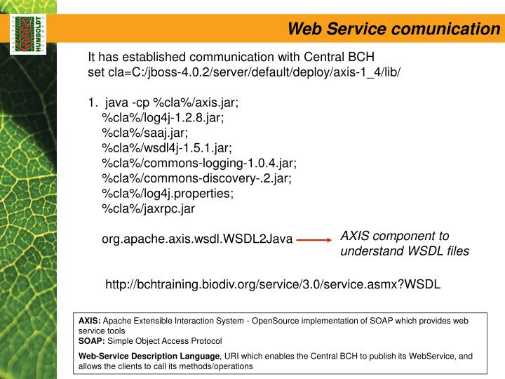 AXIS component to understand WSDL files