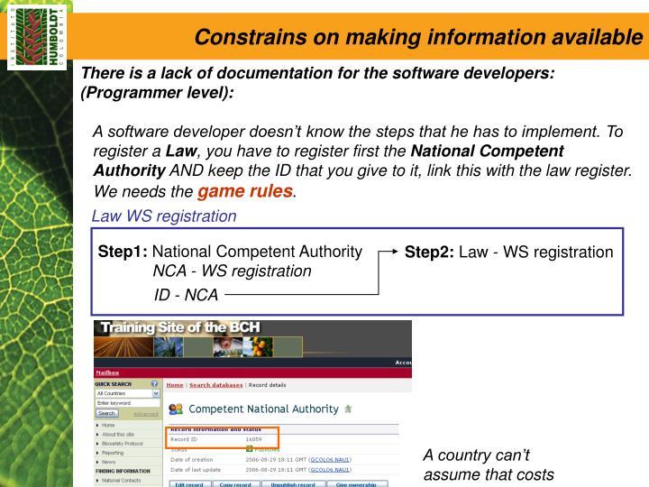 Law WS registration