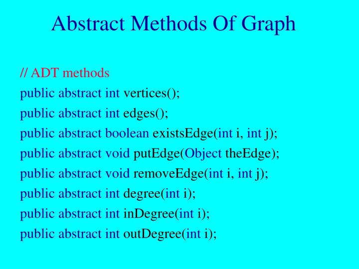 Abstract Methods Of Graph