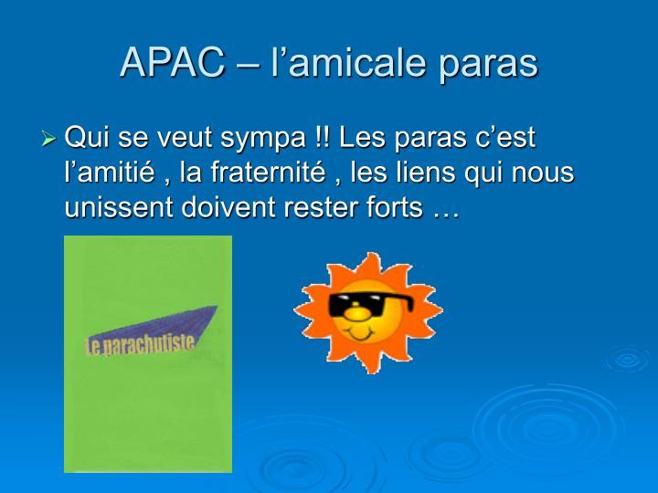 APAC – l'amicale paras