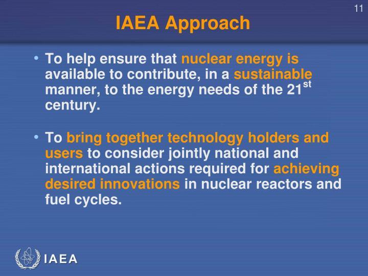 IAEA Approach