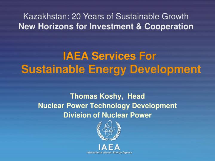 Iaea services for sustainable energy development