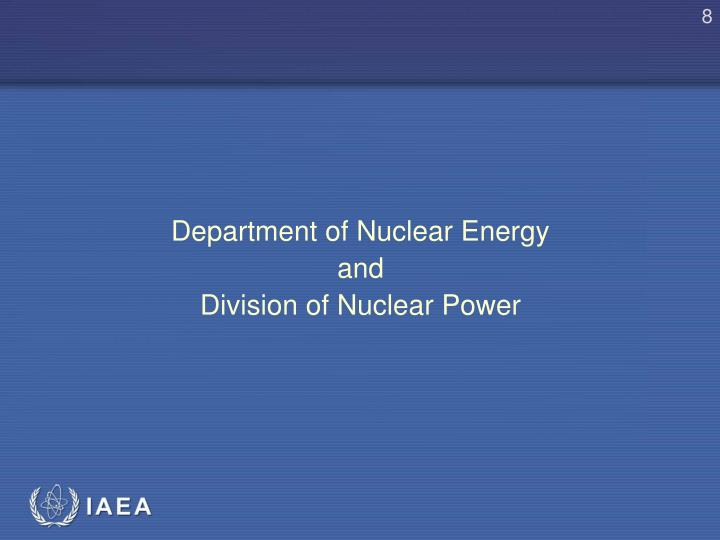 Department of Nuclear Energy