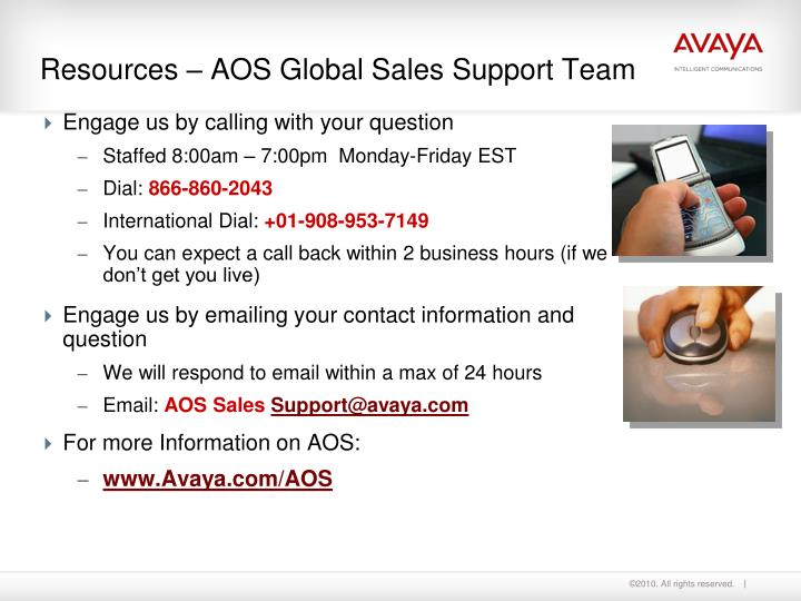 Resources – AOS Global Sales Support Team