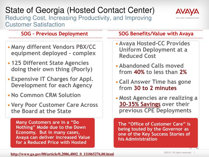 State of Georgia (Hosted Contact Center)
