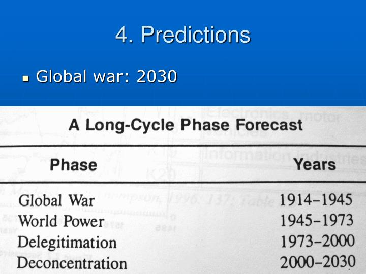 4. Predictions