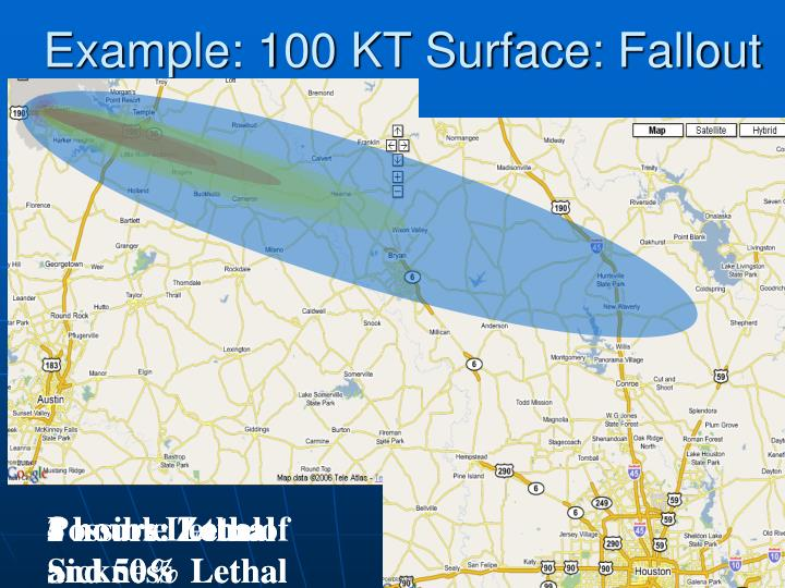 Example: 100 KT Surface: Fallout