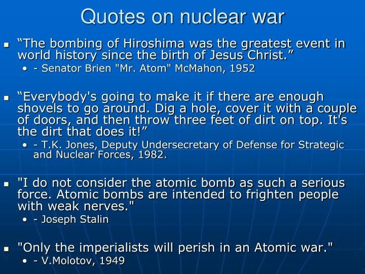 Quotes on nuclear war