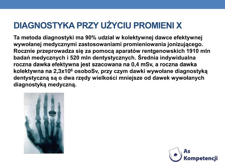 Diagnostyka przy użyciu promieni X