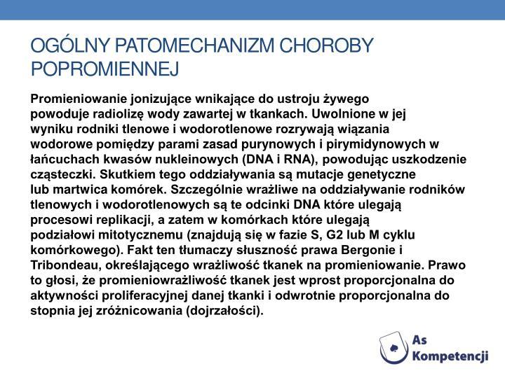 Ogólny patomechanizm choroby