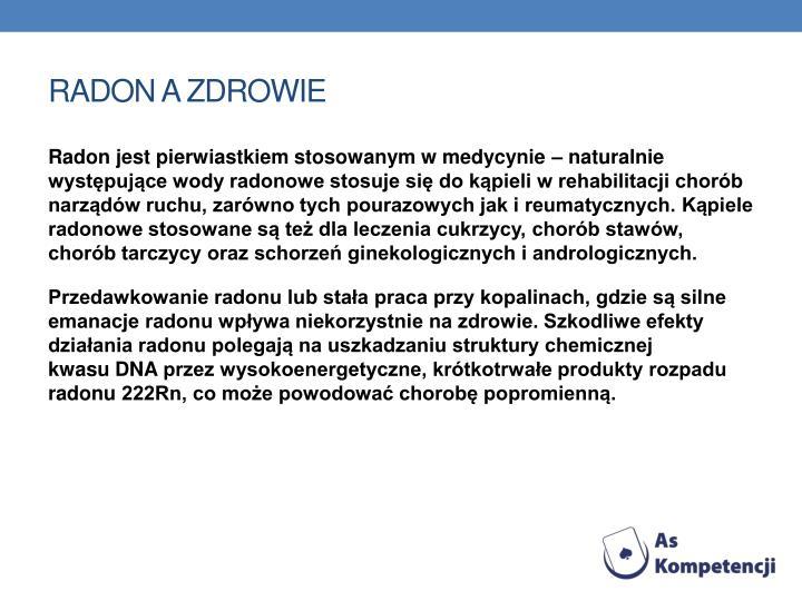 Radon a