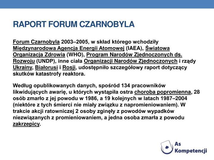 Raport Forum Czarnobyla
