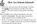 how are schools selected