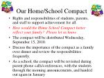 our home school compact