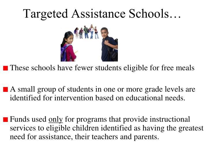 Targeted Assistance Schools…