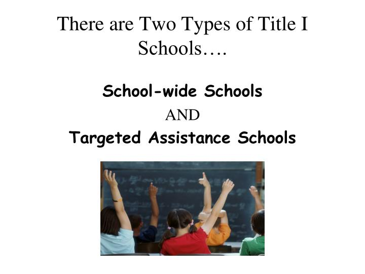 There are Two Types of Title I Schools….