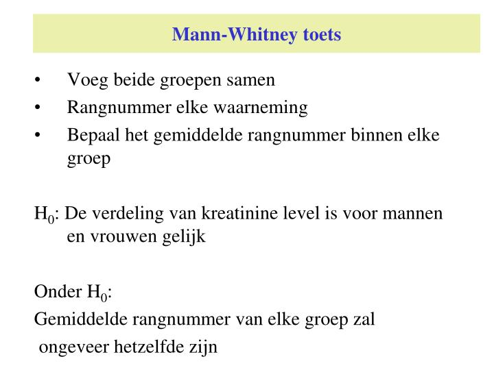 Mann-Whitney toets