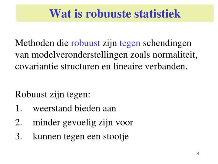 Wat is robuuste statistiek