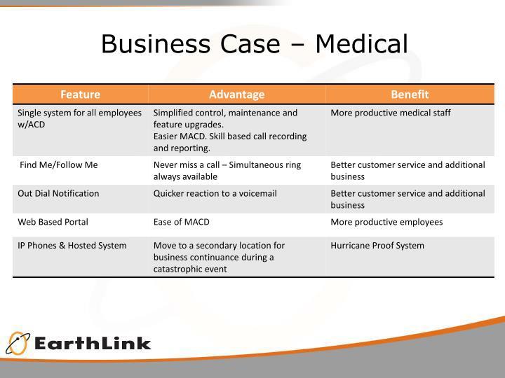 Business Case – Medical