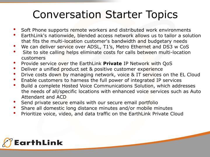 Conversation Starter Topics