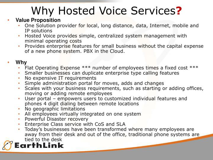 Why Hosted Voice Services