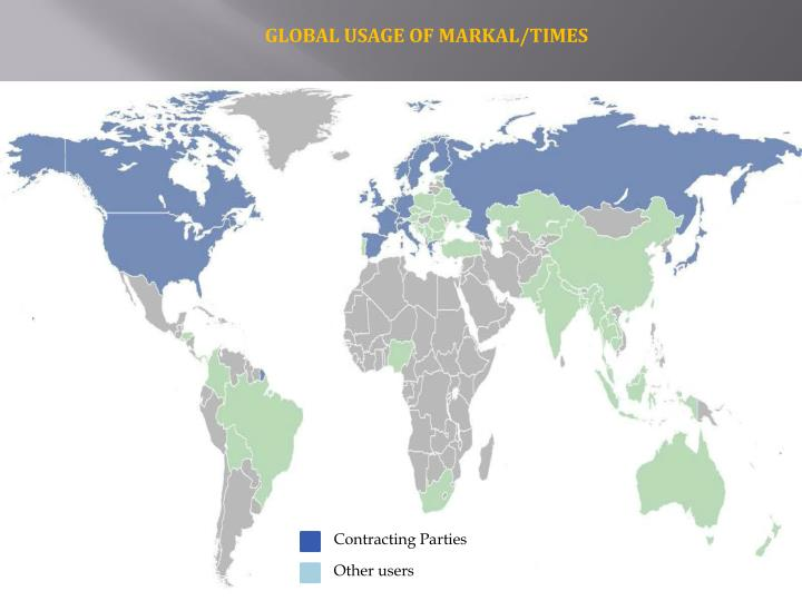 GLOBAL USAGE OF MARKAL/TIMES