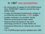 in 1987 new possibilities