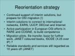 reorientation strategy