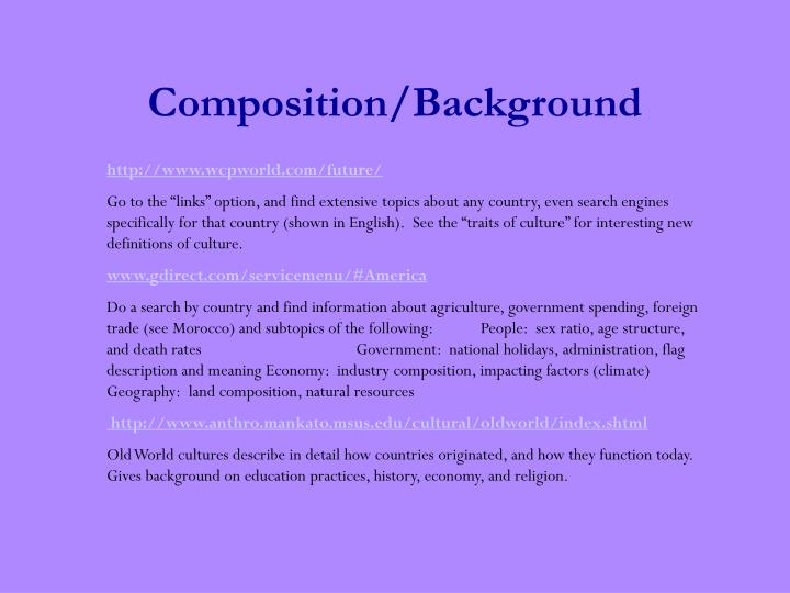 Composition background