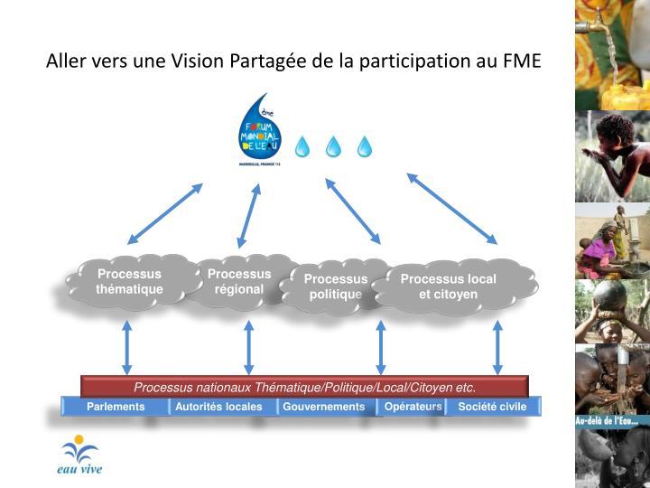 Aller vers une Vision Partagée de la participation au FME