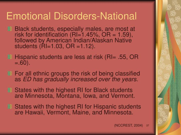 Emotional Disorders-National