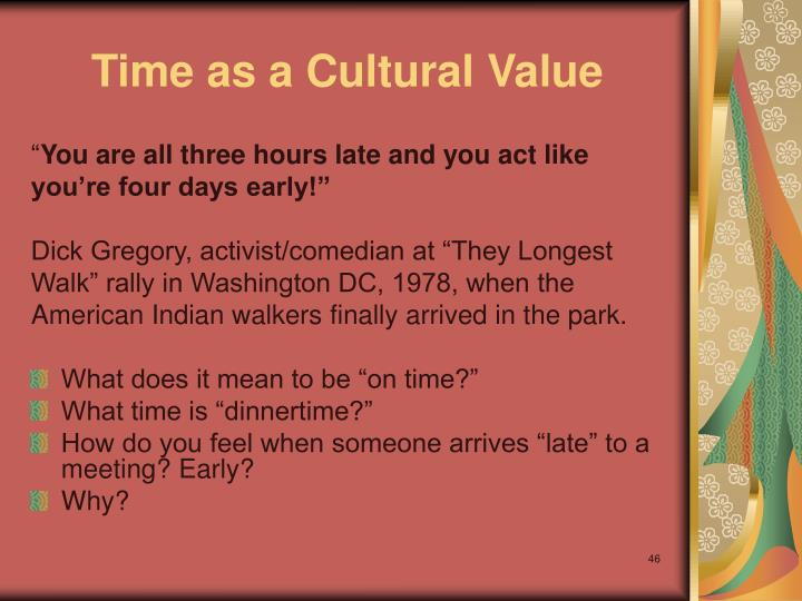Time as a Cultural Value