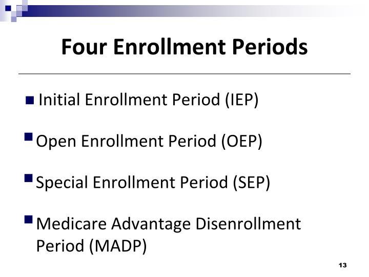 Four Enrollment Periods