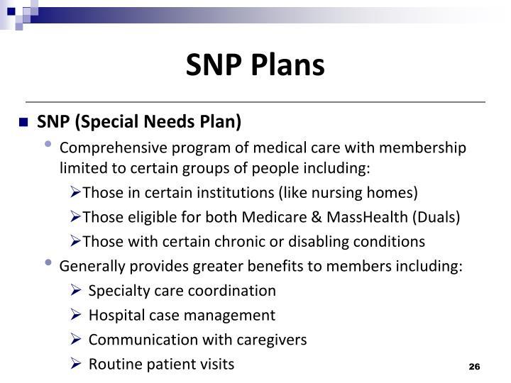 SNP Plans