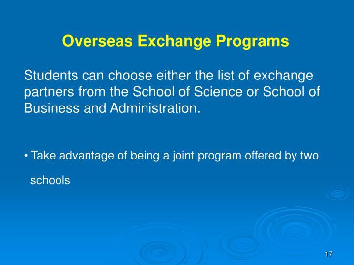 Overseas Exchange Programs