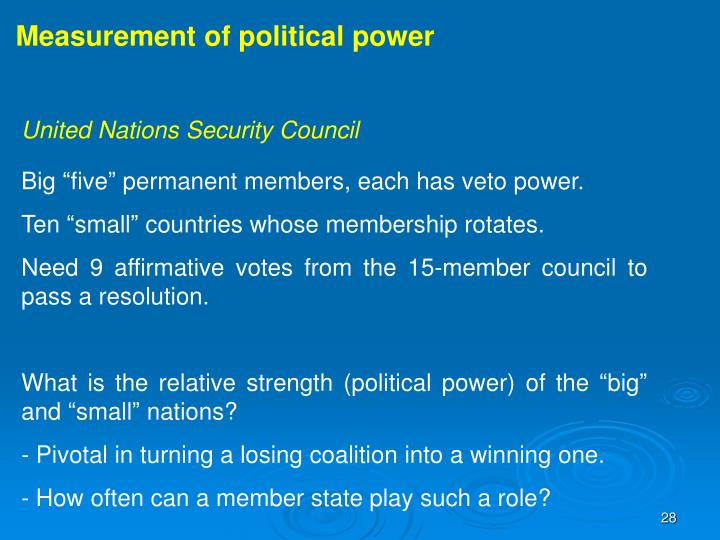 Measurement of political power