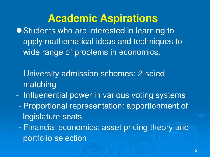 Academic Aspirations