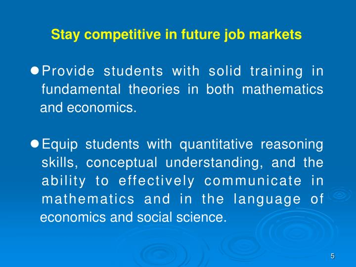 Stay competitive in future job markets