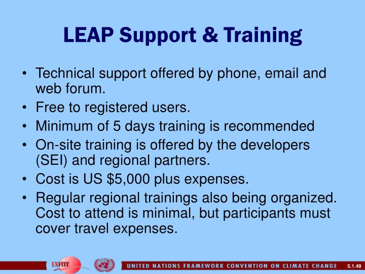 LEAP Support & Training