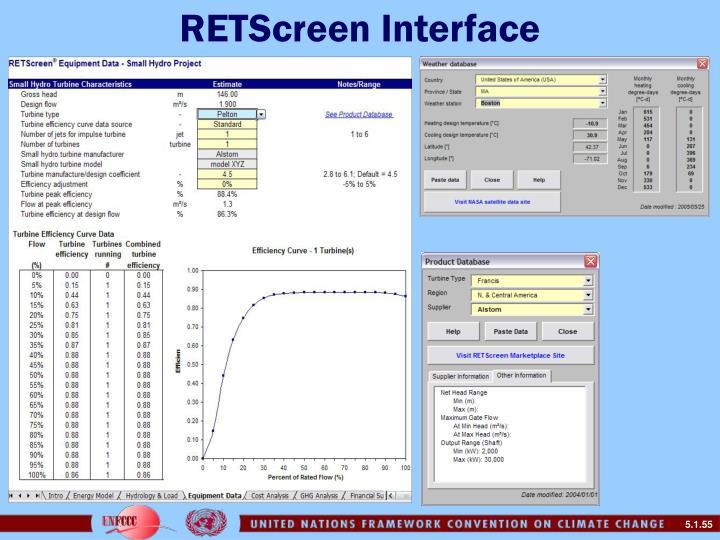 RETScreen Interface