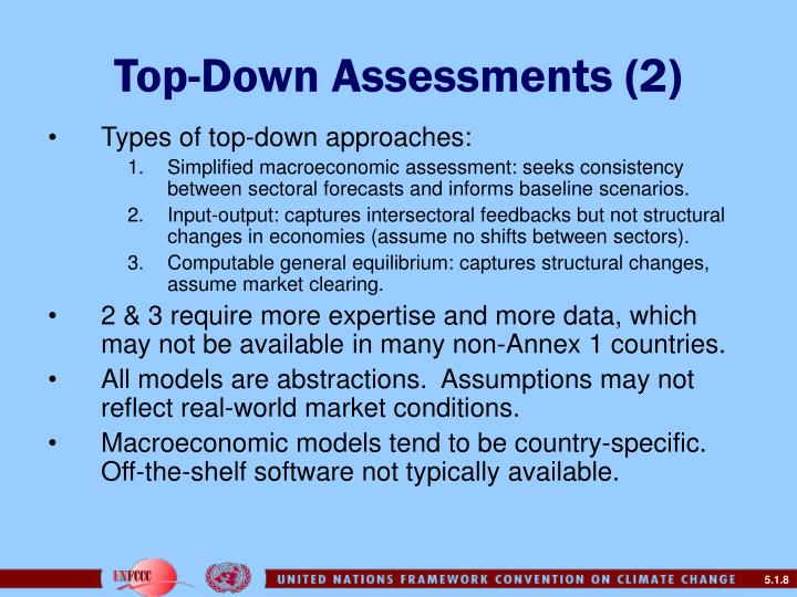 Top-Down Assessments (2)