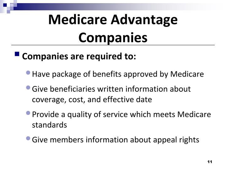 Medicare Advantage Companies