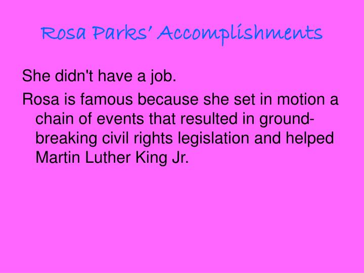 Rosa Parks' Accomplishments